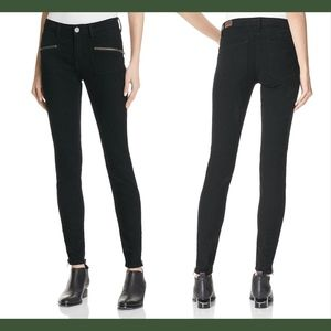 NWT $258 Joie The Moto Skinny Jeans in Black 23